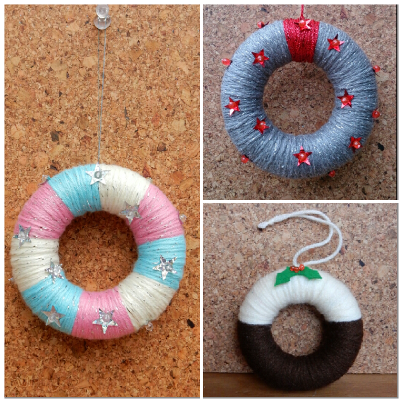 Lu yarn wreath decs other