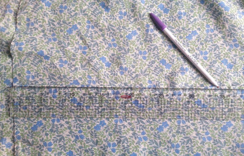 Lu upcycled shirt measuring length