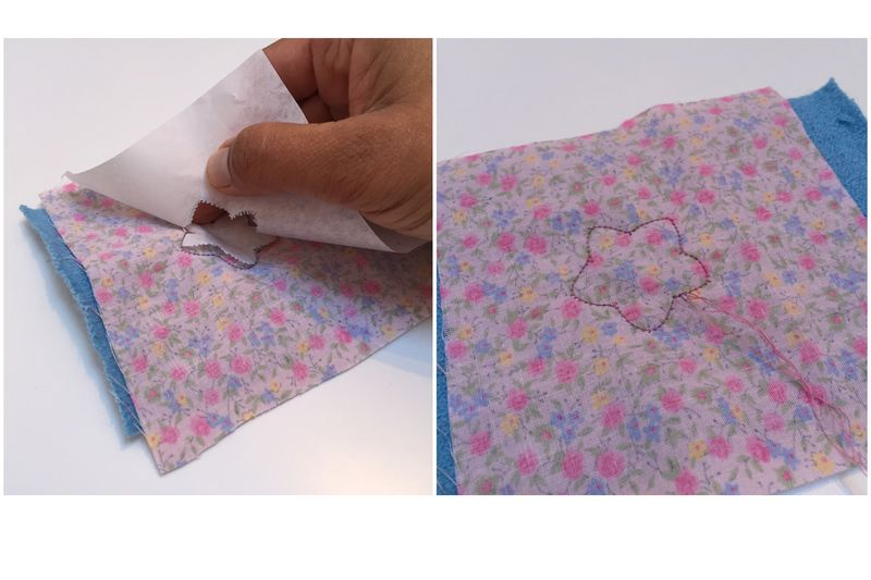 Pincushion paper off