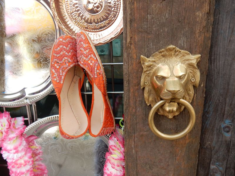 Pottering and playing london zoo lion door knocker