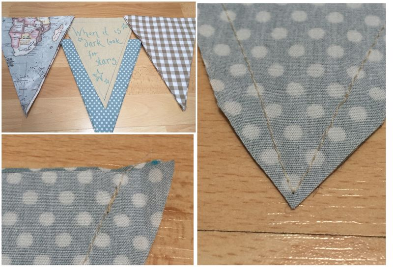 Sewing bunting