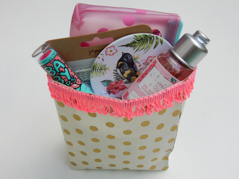 Lu paper party bag tutorial finished party bag full of goodies