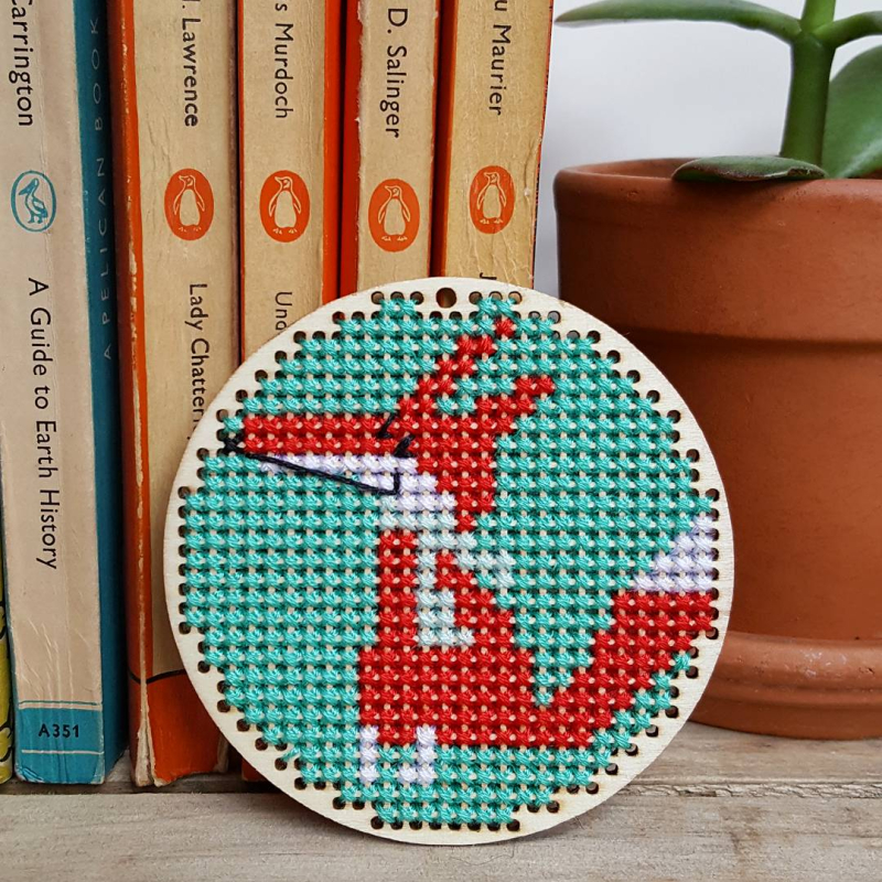 Lu Cross Stitch Hearts bunting fox