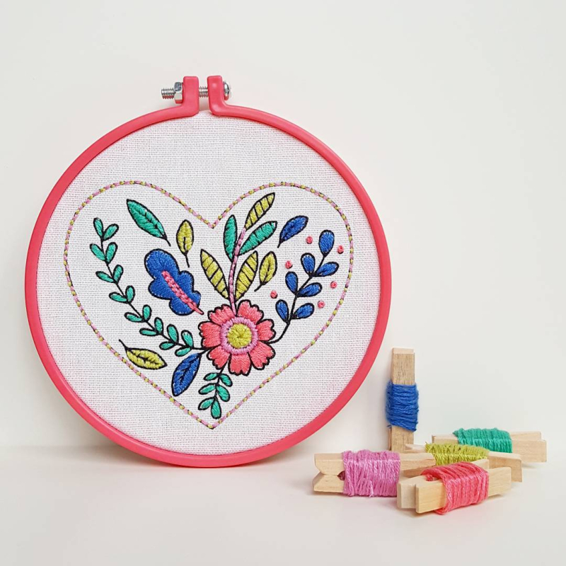 Lu creative happenings embroidery hoop mollie makes