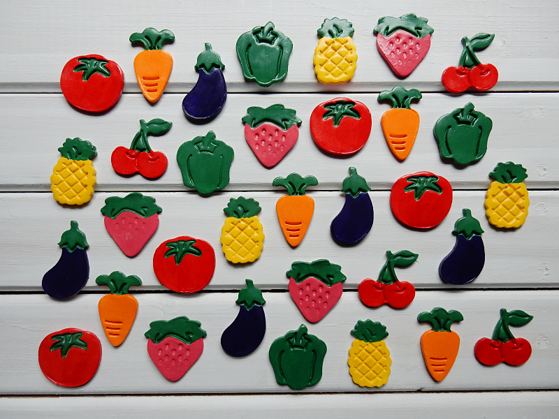 Lu fruit and veg magnets done
