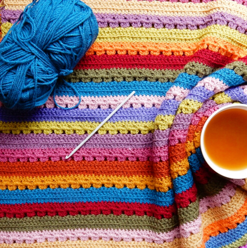 Lu Me and Crochet not showing edging of cosy stripe