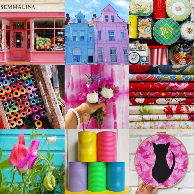 Lu rainbow brooch #colourmyeveryday collage