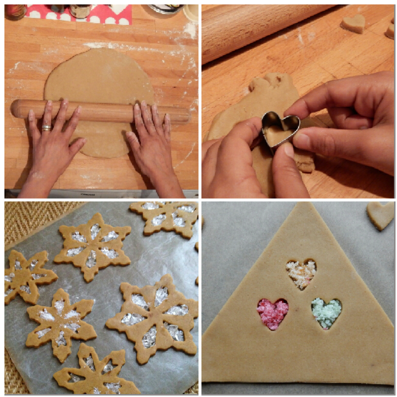 GIngerbread prep collage