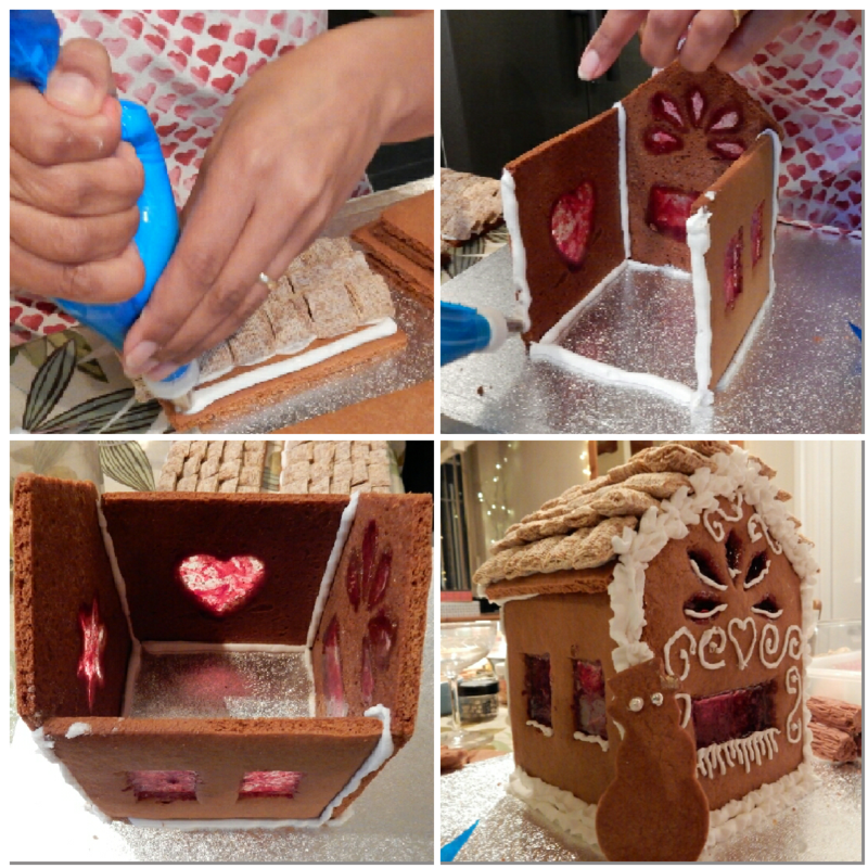 Gingerbread Brownie Cottage collage