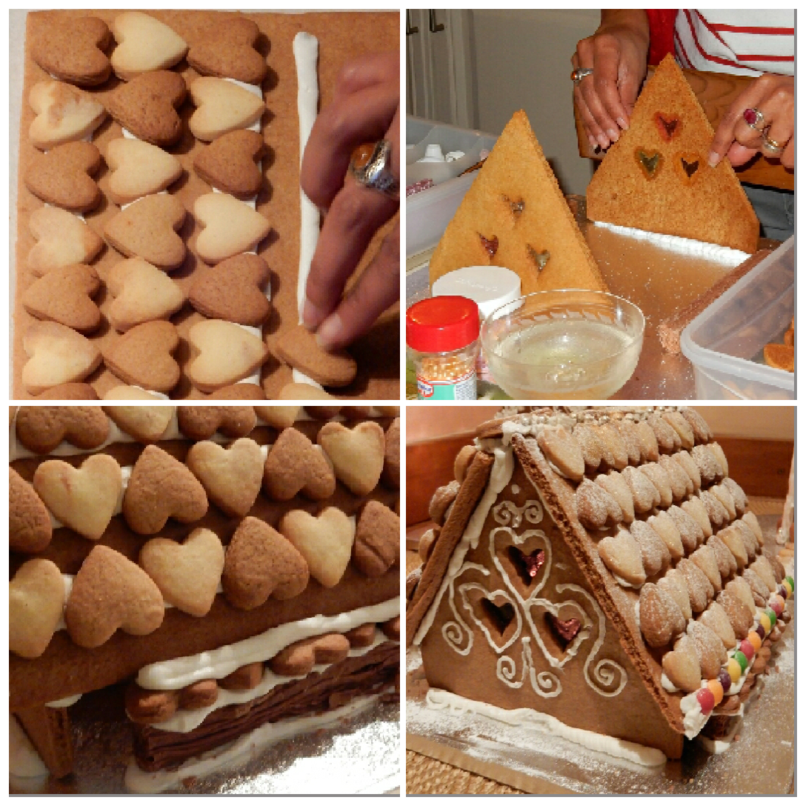 Gingerbread Brownie Chalet collage