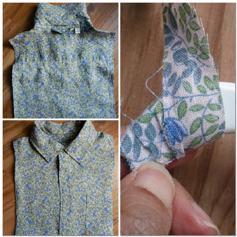 Lu upcycled shirt peg bag turning right way and wrapping hanger collage