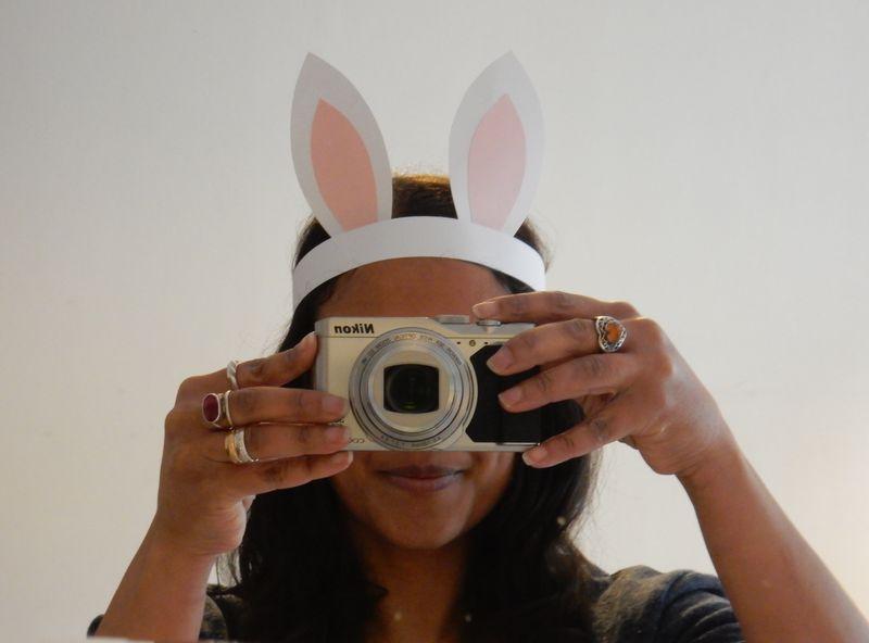 Lu Hoppy Spring selfie in bunny ears