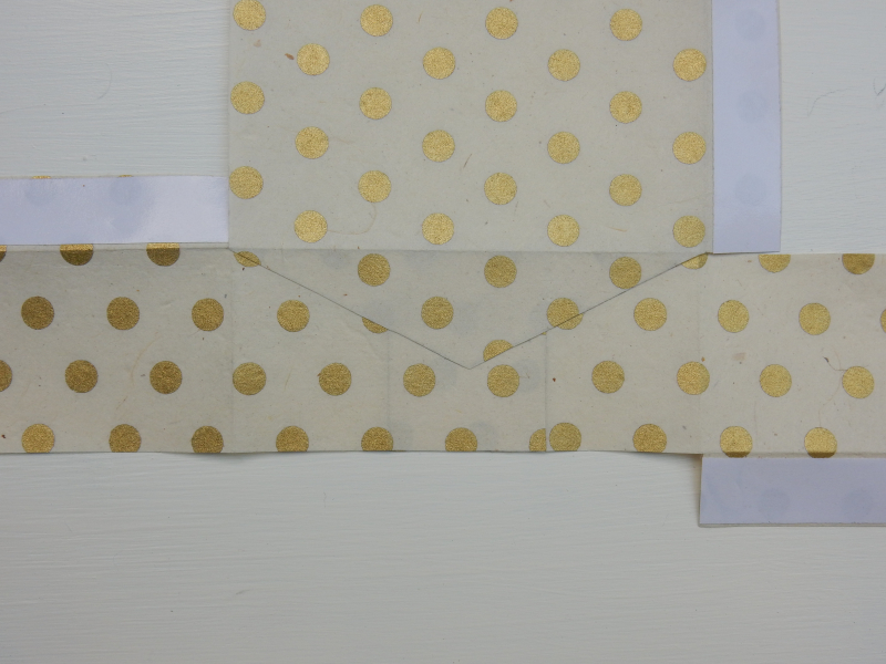 Lu paper party bag tutorial one bottom flap stuck to bottom side flaps
