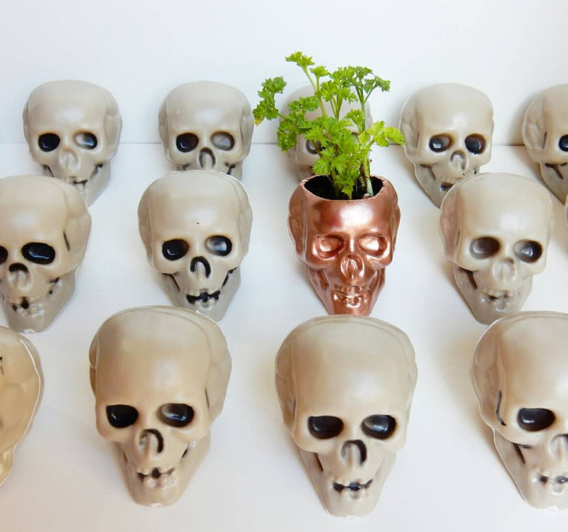 Lu halloween skull tutorial all the skulls in a row