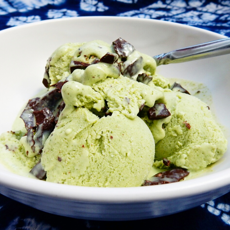 Mint choc chip icecream