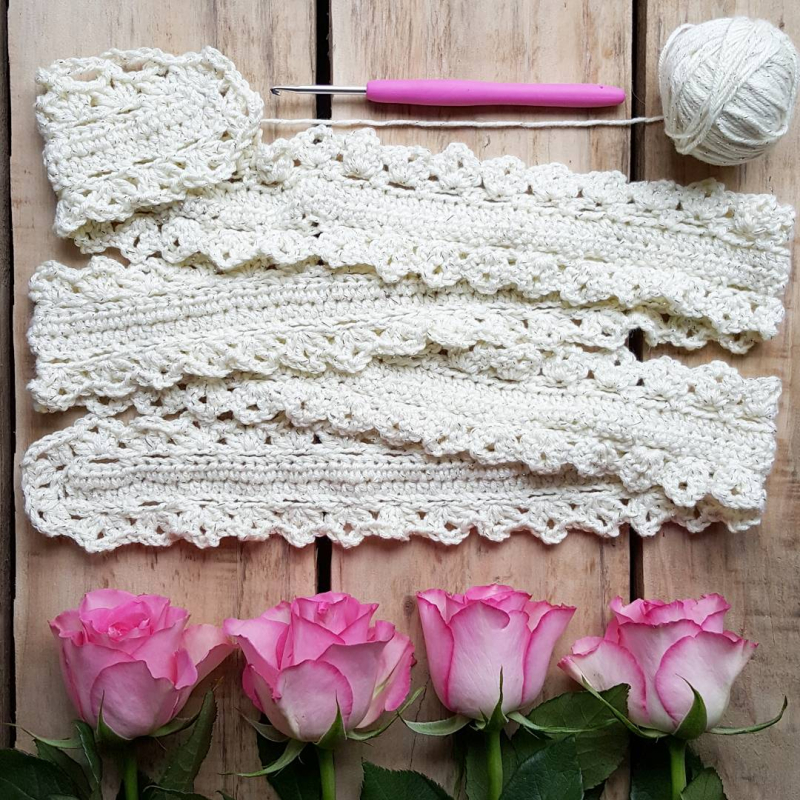 Lu creative happenings crochet scarf