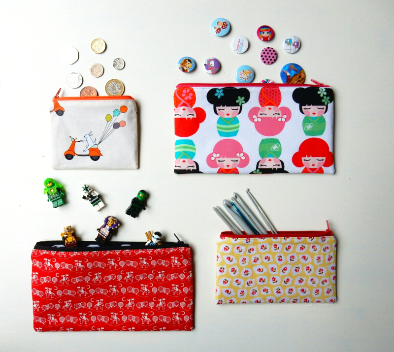 Lu zippered pouch tutorial all the pouches