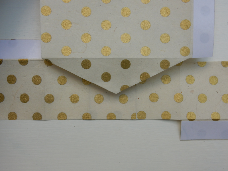 Lu paper party bag tutorial sticking bottom main flap to bottom side flaps