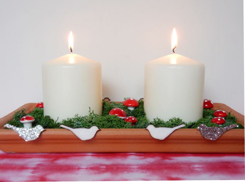 Christmas centrepiece rectangular finished